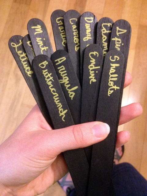 Black and Gold Homemade Garden Markers